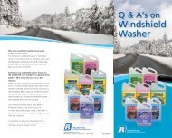 Q & A's on Windshield Washer - Recochem Inc.