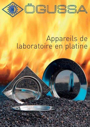 Appareils de laboratoire en platine - Umicore