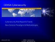 CENSA Cybersecurity - Council for Emerging National Security Affairs