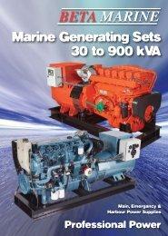Marine Generating Sets 30 To 900 KVA