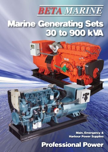 Marine Generating Sets 30 To 900 KVA