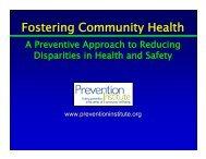 Fostering Community Health - Prevention Institute