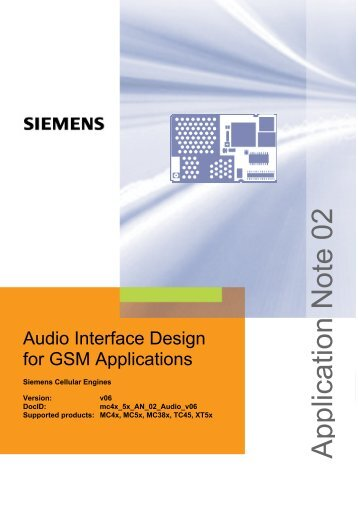 Audio Interface Design for GSM Applications - Wireless Data Modules