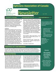 Revised newsletter template.pub - Opticians Association of Canada