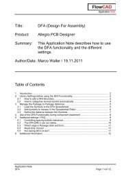 Title: DFA (Design For Assembly) Product: Allegro PCB ... - FlowCAD