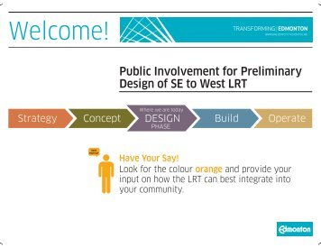 Public Involvement for Preliminary Design - City of Edmonton
