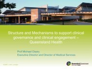 Structure and Mechanisms to support clinical governance and ...