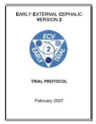 early external cephalic version trial - University of Toronto