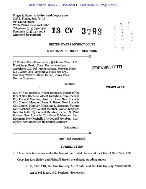 vb cv Case 7:13 cv 03793 VB Document 1 Filed 06/04/13 Page 1 of 52
