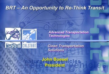 BRT – An Opportunity To Re-Think Transit - Bus Rapid Transit Policy ...
