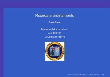 Ricerca e ordinamento - IsIB CNR