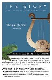 Palm Sunday, March 24, 2013 9:30 - Central Community Church
