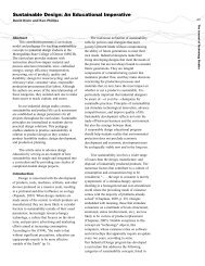 Sustainable Design: An Educational Imperative