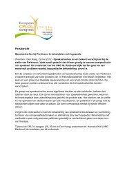 Speekselverlies bij Parkinson te behandelen met ... - Logopedie.nl