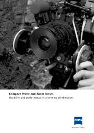 Compact Prime and Zoom lenses Flexibility and ... - Carl Zeiss, Inc.