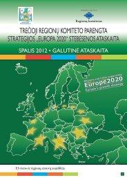"""""""EUROPA 2020"""" STEBĖSENOS ATASKAITA"""