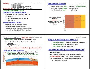 Why are planetary interiors stratified?