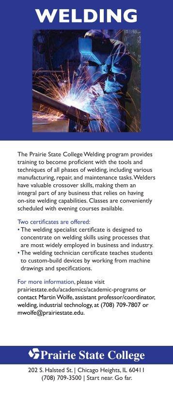 Welding Fact Card - Prairie State College