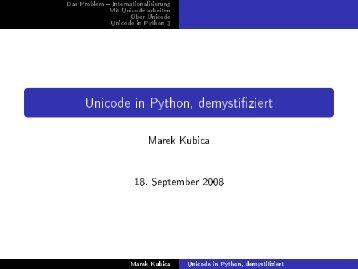 Unicode in Python, demystifiziert - xivilization