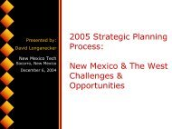 New Mexico & The West Challenges & Opportunities - WICHE