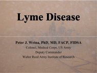 Lyme - COL Weina - Walter Reed Army Institute of Research - U.S. ...