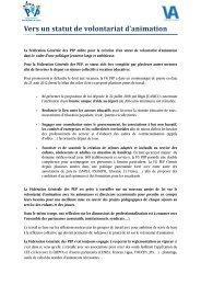 La Fédération Générale des PEP milite pour un statut de volontariat ...