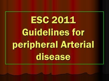 Guidelines for peripheral vascular disease - RM Solutions
