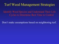 Weed Biology - TurfFiles