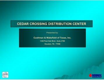 CEDAR CROSSING DISTRIBUTION CENTER - Gisplanning.net
