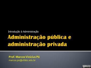 Aula 7 – Administração pública x administração privada