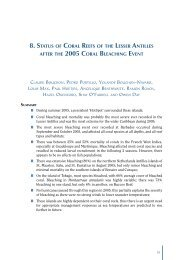 8. status of coral reefs of the lesser antilles after the 2005 coral ...