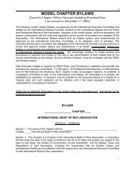 MODEL CHAPTER BYLAWS - International Right of Way Association