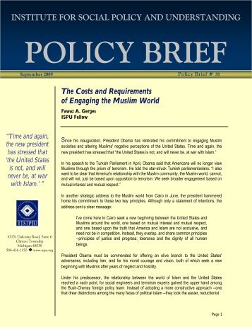 Download the Full Report (PDF) - Institute for Social Policy and ...