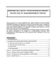 rapport de l'auto - évaluation du projet pilote eau et assainissement