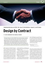 Design by Contract - metafinanz Informationssysteme GmbH
