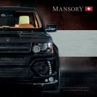 The customization programme for your Range Rover Sport - Mansory