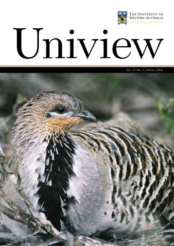 UniviewVol. 27 No. 2, Winter 2008 - Publications Unit - The ...