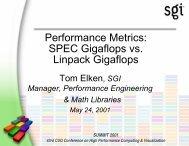 Performance Metrics: SPEC Gigaflops vs ... - Cray User Group