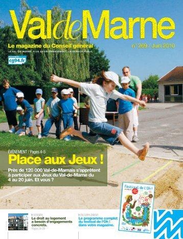 ValdeMarne n°269 / Juin 2010 - Conseil général du Val-de-Marne