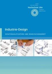 Broschüre Industrie-Design (pdf) - Hochschule Ulm