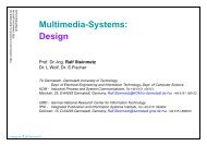 Multimedia-Systems: Design - Department Of Computer Science