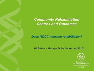 Community Rehabilitation - Australian Mental Health Outcomes and ...