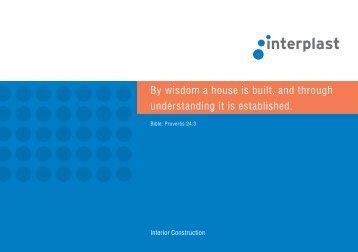 Brochure Interior Construction - INTERPLAST Kunststoffe GmbH
