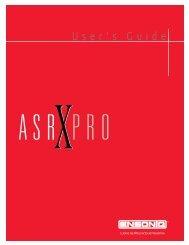 ASR-X Pro User's Guide 3.00 - Thesoniq
