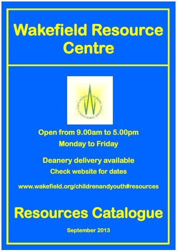 Catalogue - The Diocese of Wakefield
