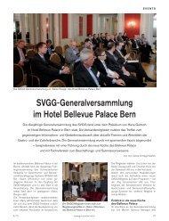 Svgg-Generalversammlung im Hotel Bellevue Palace Bern