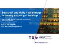 Seasonal and daily heat storage