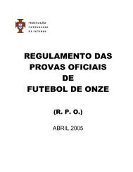 Regulamento das Provas Oficiais da FPF - Associação de Futebol ...