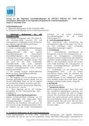 Auszug AGB für E-Mail Kommunikation WITTICH VERLAGE KG Stand