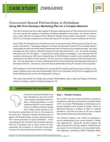 case study zimbabwe - CONCURRENT SEXUAL PARTNERSHIPS ...
